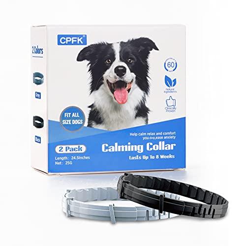 CPFK Dogs Calming Pheromone Collar 2 Pack Calm...