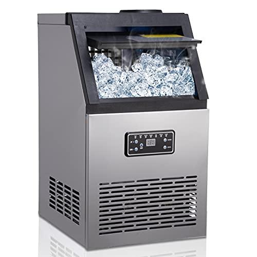 Ice Maker Macchina Commerciale 60kg / 24H 230W con Capacit Stoccaggio di 11.5kg 40 Vassoi del Ghiaccio Ice Cube Maker Macchina per ghiaccio in acciaio inox per Bar/Ristorante/Ufficio/Caffetteria