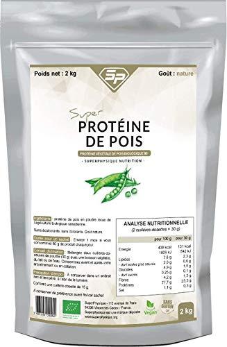 Super Proteine De Pois - Proteine Vegetale de Pois Biologique 80 - Nature - 2 kg