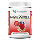Cardio Complete - Heart Health and Cardiovascular Support Powder Supplement - 3-in-1 Nitric Oxide Booster with 5,000 L-Arginine, 1,000mg L-Citrulline, and Hawthorn Berry