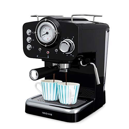 IKOHS THERA RETRO - Macchina del Caffè Express per caffè espresso e cappuccino, 1100 W, 15 bar,...