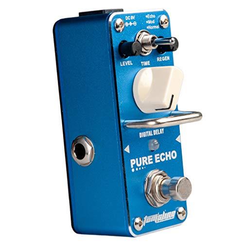 sharprepublic APE 3 Portable Guitar Effect Pedal Pure Echo Digital Delay for Musical Blue