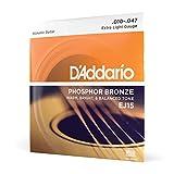 D'Addario Cordes en Bronze Phosphoreux pour Guitare Acoustique avec...