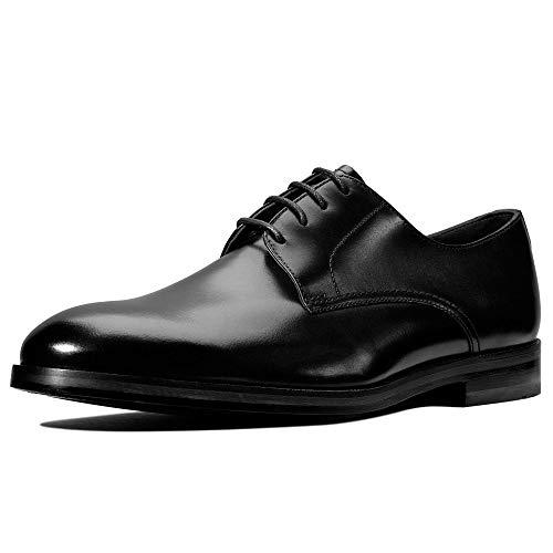 Clarks Oliver Lace, Zapatos de Cordones Derby Hombre, Negro (Black Leather Black Leather), 42.5 EU
