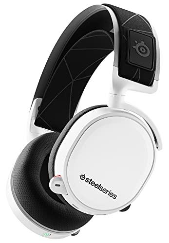 SteelSeries Arctis 7 - Casque de Jeu sans Fil et sans Perte - Son Surround DTS Headphone:X v2.0 pour PC, PlayStation 5 et PS4 - Blanc