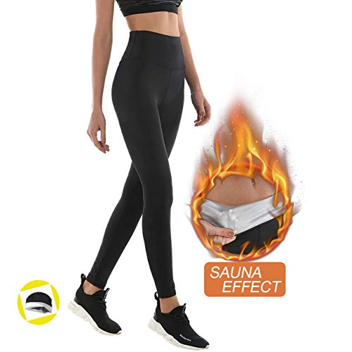 Leggings Dimagrante Donna Fitness, Pantaloni Sportivi Vita Alta, Leggings Anticellulite in...