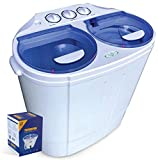 Garatic Portable Compact Mini Twin Tub Washing Machine w/Wash and Spin Cycle, Built-in Gravity...