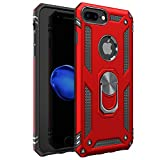 iPhone 7 Plus Case | iPhone 8 Plus Case [ Military Grade ] 15ft Drop Tested Protective Case | Kickstand | Wireless Charging | Compatible with Apple iPhone 8Plus / iPhone 7 Plus Case - Red