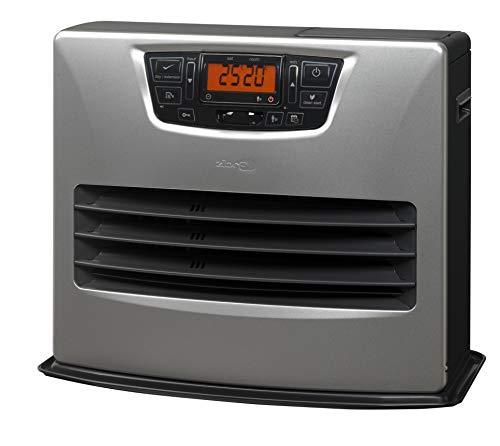 Zibro LC 150 Poêle à combustible électronique, portable, 4,85 kW, argent de 30 m² – 78 m², sans installation, thermostat réglage hebdomadaire, télécommande et capteur de présence