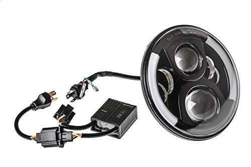 VOLL LED Abblendlicht Fernlicht Standlicht Scheinwerfer Hauptscheinwerfer Schwarz 7 Zoll