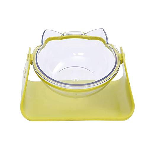 UPSLON 猫犬兼用 フードボウル ウォーターボウル かわいい 猫ボウル ペット皿 ペット食器 15°調節可能 手入...