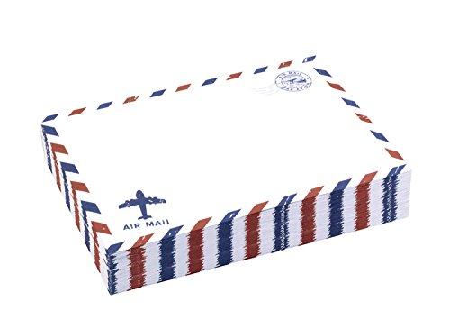BeeChamp 50pcs A7 5x7 Self-Sealing Gummed Vintage Airmail Style Invitation Envelopes, White