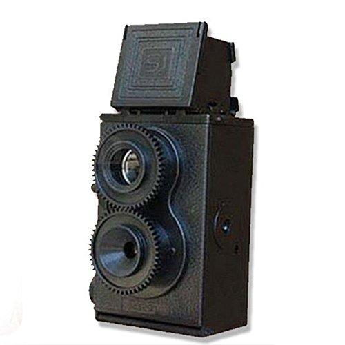 muxiao Fotocamera Reflex TLR a Doppia Lente Fai-da-Te 35mm, Fotocamera Vintage Nera, Fotocamera a...