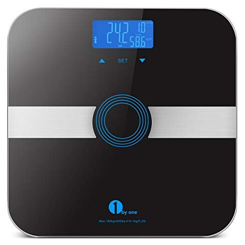 1byone Smart Body Fat Scale Body Composition Analyzer, Bathroom Digital Weight Scale