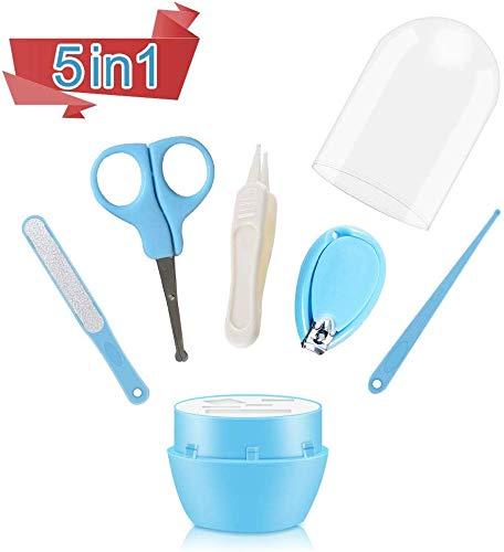baby maniküre set,baby nagelscheren,baby nagelfeile,baby pinzette,baby nagelpflegeset,nagelknipser neugeborene,baby pflege-set (Bleu-B)