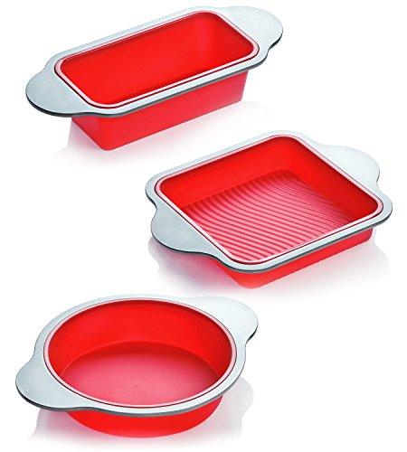Silicone Bakeware Set   3-Piece Professional Non-Stick Silicone...