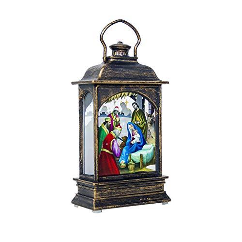 Gartenlaternen Weihnachten ÖLlampe Tragbare Laterne Licht Ornamente Dekorative Laterne Simulation Weihnachten Flamme Lampe Weihnachtskerze Handwerk HäNgenden AnhäNger Gartendeko