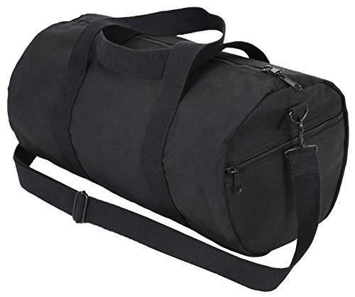 Rothco Canvas Shoulder Duffle Bag - 19 Inch, Black