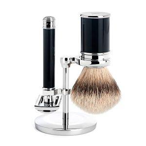 MÜHLE Silvertip Badger Safety Razor (Open Comb) Shaving Set