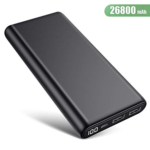 Trswyop Power Bank 26800mAh, Versione Migliorata Caricabatterie Portatile con LED Digitale Display...