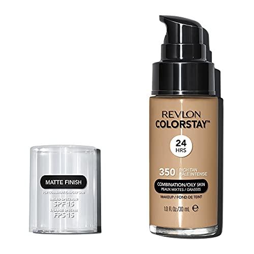 Revlon ColorStay Base de Maquillaje piel mixta/grasa FPS15, #350 Rich Tan 30ml