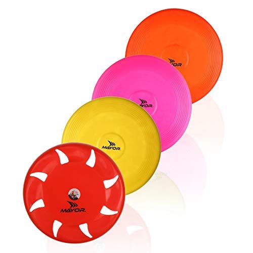 mayor flying disc frisbee size medium(pack of 4)- Multi color