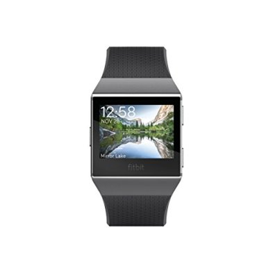Fitbit Ionic GPS Smart Watch, Charcoal/Smoke Gray, One Size (S and L Bands Included)