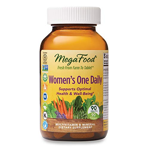 MegaFood, Women's One Daily, Daily Multivitamin and Mineral Dietary Supplement with Vitamins C, D, Folate and Iron, Non-GMO, Vegetarian, 90 Tablets (90 Servings) (FFP) 1