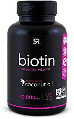 Biotin 10,000mcg infused with cold-pressed Organic Coconut Oil May help to support Healthy Hair, Skin and nails in individuals who are Biotin deficient* NOTE: Do not take if you are prone to acne The only Vegan Certified & Non-GMO Project Verified Bi...