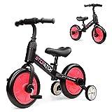 Fascol Draisienne 3 en 1, Tricycle pour l'équilibre d'apprentissage, Vélo sans...