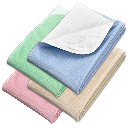Incontinence Bed Pads - Reusable Waterproof Underpad Chair, Sofa and Mattress Protectors - Highly Absorbent, Machine Washable - for Children, Pets and Seniors (30x36 (Pack of 4), Multi-Color)