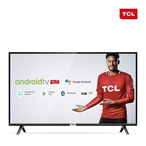 Smart TV LED 40' Android TCL 40s6500 Full HD com Conversor Digital Wi-Fi Bluetooth 1 USB 2 HDMI, Controle Remoto com Comando de Voz