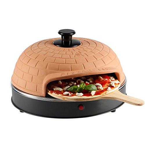 Ultratec Pizzarette, Pizzaofen mit Metall-Backplatte - für 4 Personen
