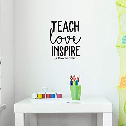 Vinyl Wall Art Decal - Teach Love Inspire #Teacherlife - 22