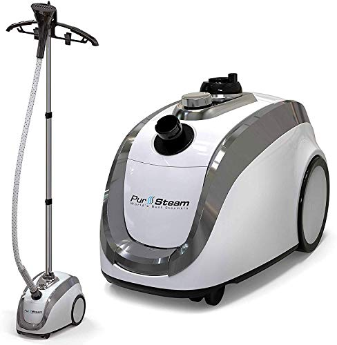 PurSteam -2020 Official Partner of Fashion-Full Size Steamer for Clothes, Garments, Fabric-Professional Heavy Duty - 4 Steam Levels, Perfect Continuous Steam, Perfect for sterilizing & disinfecting