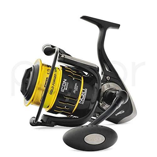 Ryobi Tubertini Mulinello da Pesca Icon 8000 con Frizione Anteriore Precisa e Potente da Spinning Bolognese Feeder Fondo Mare Trota Lago Leggero e Affidabile