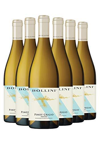 Bollini Pinot Grigio 2019 - Vino Trentino Bianco - DOC - 0.75L (6 Bottiglie)