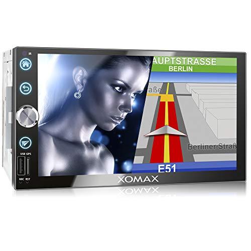 XOMAX XM-2VN768 Autoradio mit Mirrorlink, GPS Navigation, Navi Software,...