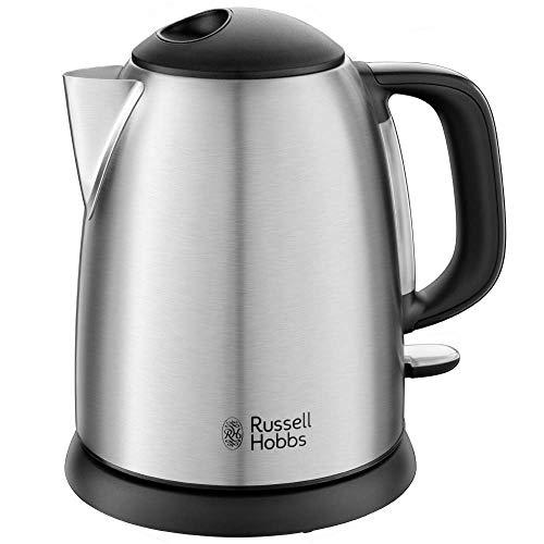 Russell Hobbs Adventure Hervidor de Agua Eléctrico - 2400 W, 1 litro, Acero Inoxidable, Filtro Extraíble, Plata - 24991-70