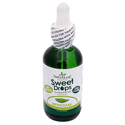 Sweet Leaf, Endulzante Natural de Stevia liquido (vidrio) 60 ml, 60 mililitros