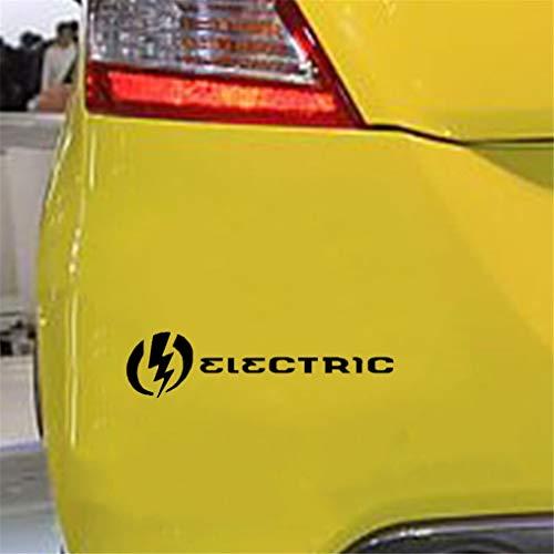 Pegatinas Coche Tuning 17.7Cmx4.4Cm Fofuture mágico combinado con Lightning Electric Car Sticker Delicate Decal para la etiqueta engomada de la ventana del ordenador portátil del coche