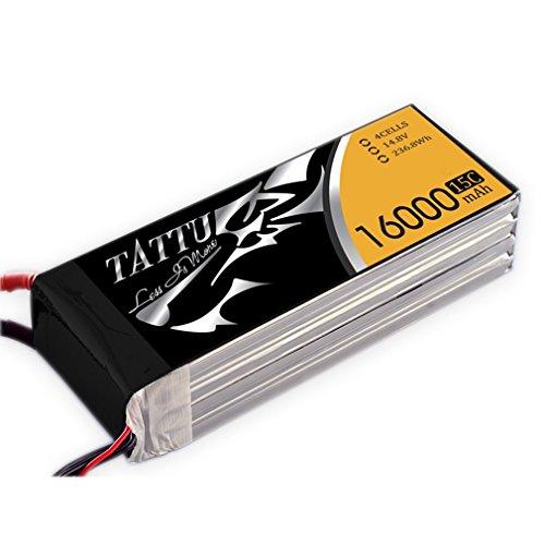 TATTU 16000mAh 4S1P 15C 14.8V Lipo Pack Batteria per Drone quadricottero RC FPV Race Come Onyx Star Fox della C8HD, Gryphon X8e Professionale UAV