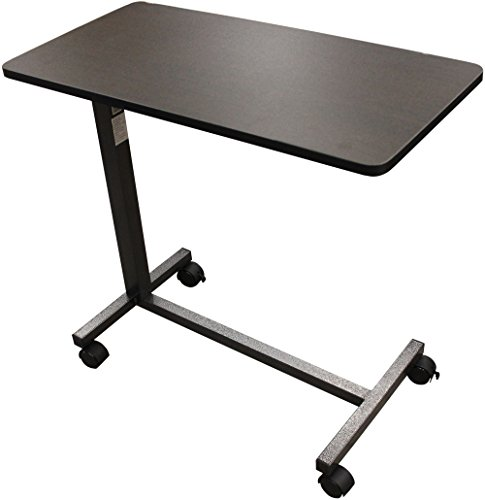 Drive Medical 13067 Non Tilt Top Overbed Table, Silver Vein