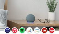 New echo dot (4th generation): smart speaker with alexa - blue color