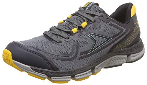 Power Men's Plazma3 Venom D.Grey and Yellow Running Shoes-8 (8082188)