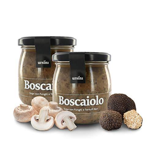 Ursini Salsa boscaiola con Setas y trufa Negra, Salsa Gourmet para Pasta - 170 gr (Paquete de 2 Piezas)