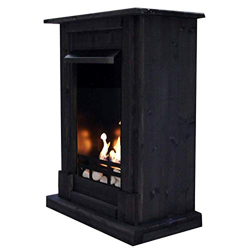 Gel + Ethanol Fireplace Madrid Deluxe - Choose from 9 colors (Black)