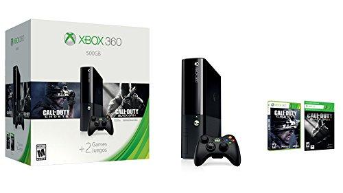 Microsoft Xbox 360 500GB + CoD: Ghosts + CoD: Black Ops II Negro Wifi - Videoconsolas (Xbox 360, Negro, 512 MB, DDR3, IBM PowerPC, Unidad de disco duro)