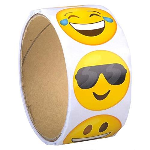 Rhode Island Novelty Emoticon Emoji Sticker Roll, 100/Roll