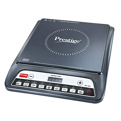 Content: Prestige Induction Cooktop-Pic 20.0 Net Quantity: 1 Unit Voltage: 230V; Wattage: 1200W Note: Kindly refer to 6th and 7th Image for error codes and their respective solutions Troubleshooting guidelines: Works only with Induction base cookware...